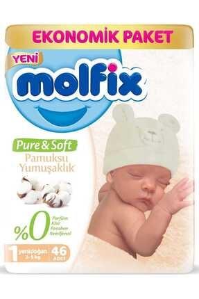 Molfix Pure & Soft 1 Beden Yenidoğan 46 Adet