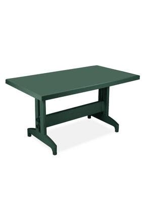 Papatya Prestige Masa Plastik Bahçe Masası Yeşil Dikdörtgen 80 Cm X 140 Cm