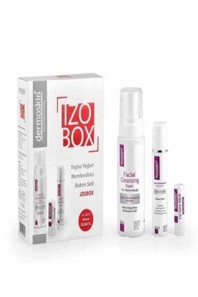 Dermoskin Izobox Yağsız & Yoğun Bakım Seti+Nemlendirici Krem 50 ml+yüz Yıkama Köpüğü 200 ml+lip Care Stick