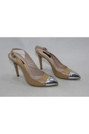 İnci Kadın Nude Hakiki Deri Klasik Topuklu Ayakkabı