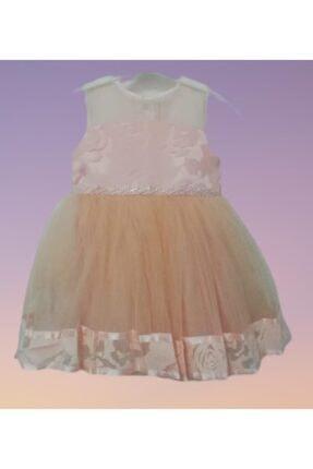Daisy Kız Çocuk Pudra Şık Elbise
