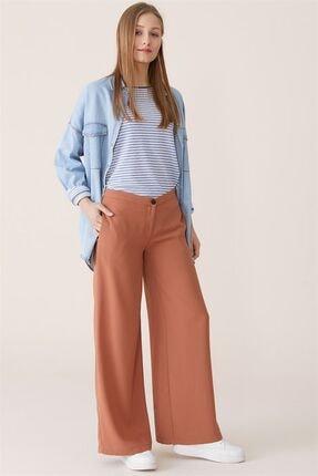 Nihan Kadın Bol Paça Pantolon - Tarçın X4504