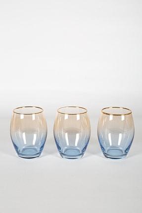 Rakle Serenade 3'lü Meşrubat Bardağı Seti Kobalt 390 cc