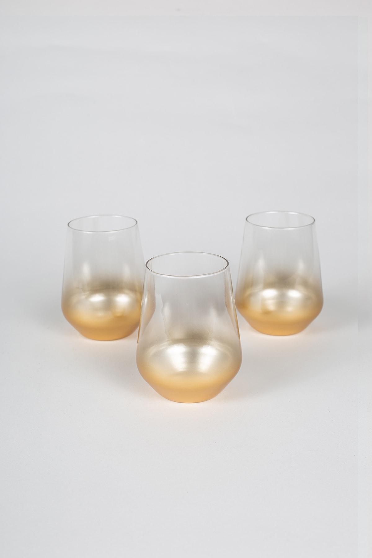 Rakle Glow 3'lü Su Bardağı Seti 425 cc 1