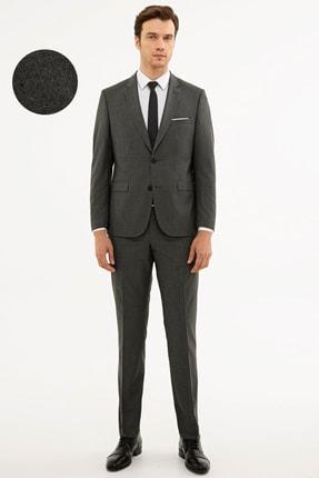 Pierre Cardin Erkek Füme Slim Fit Takım Elbise
