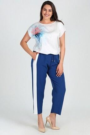 Womenice Kadın Saks Yan Şerit Pantolon