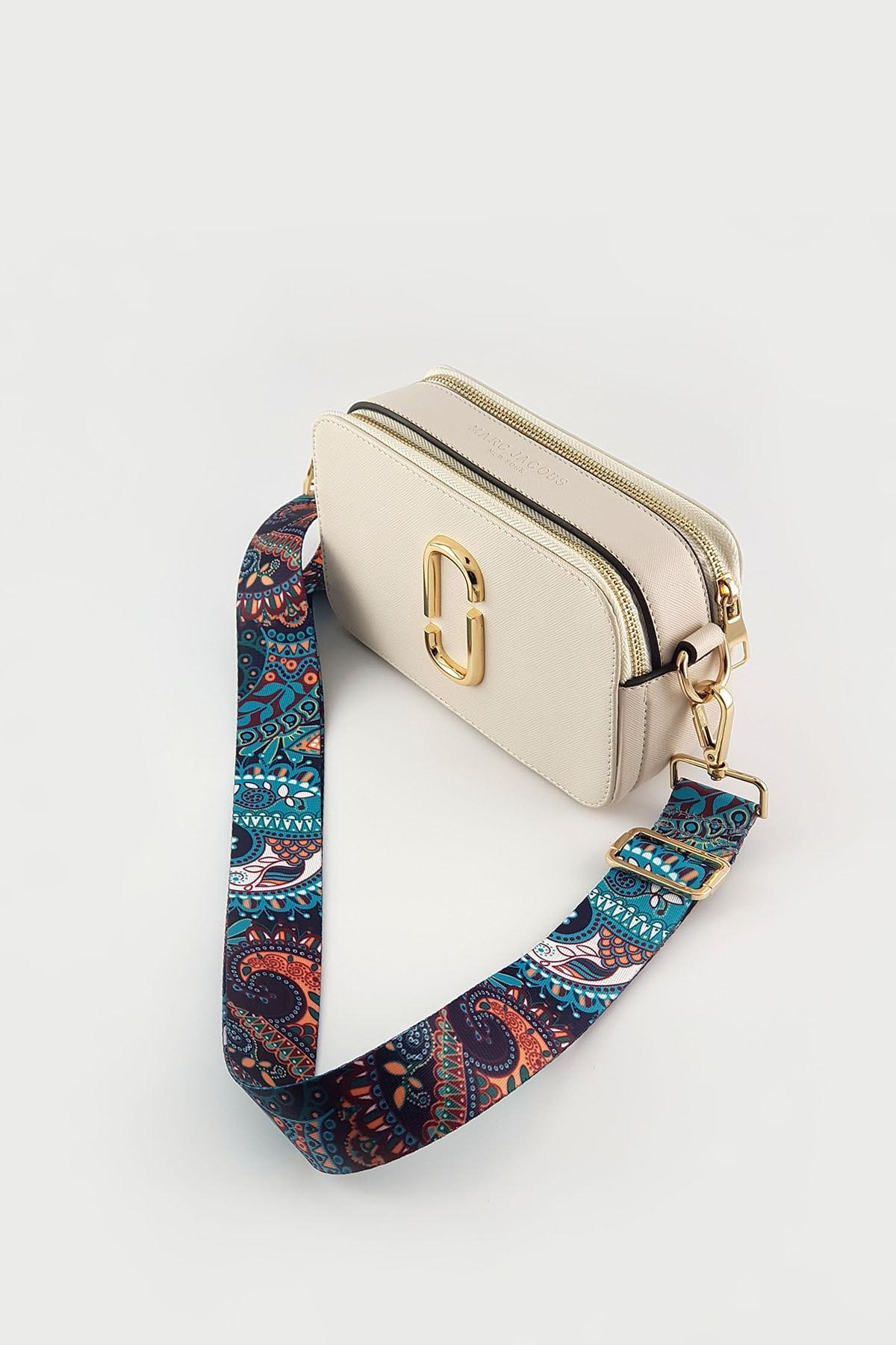 FAEN Medine Şal Desenli Çanta Askısı Gold 2