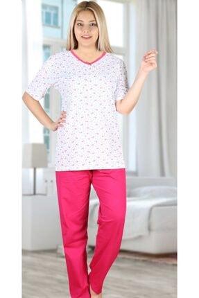 ASEL PİJAMALARI Kadın Dantelli V Yaka Pijama Takımı