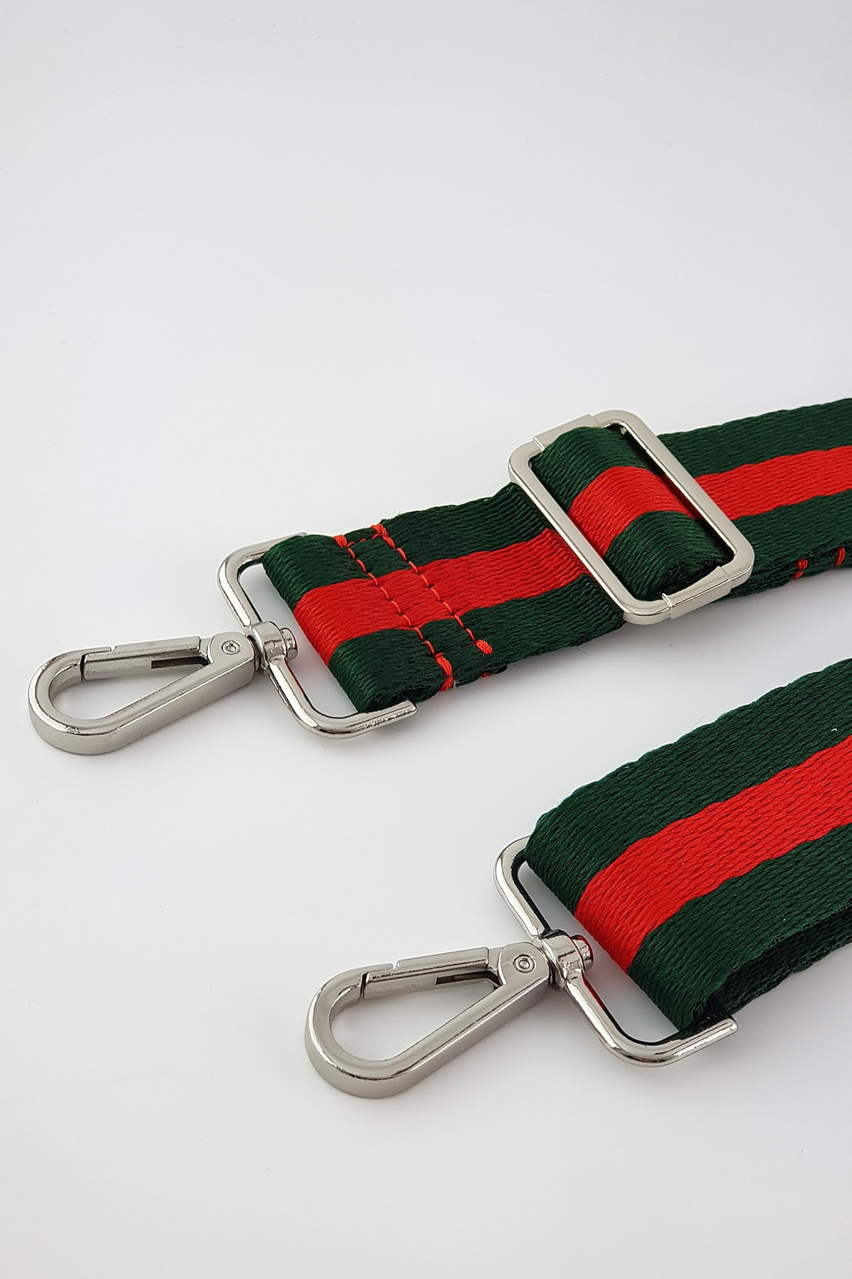 FAEN Yeşil Kırmızı Şerit Çanta & Cep Telefonu Askısı Silver 2
