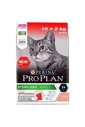 Proplan Sterilised Kısırlaştırılmış Somonlu Kedi Maması 10 Kg + 2 Kg