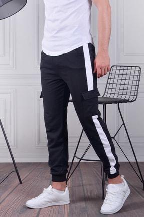 EYG COLLECTİON Erkek Beyaz Kargo Cepli Pantolon