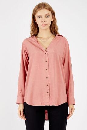 Manche Kadın Violet Kolu Ekstraforlu Gömlek  