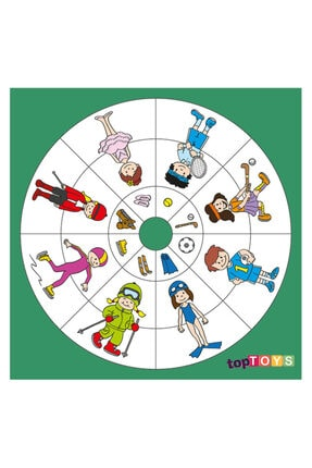 Adalinhome Dairesel Temalar Spor Ahşap Puzzle 35x35 Cm