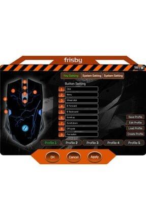 FRISBY Fm-g3265k Kablolu Optik Oyuncu Mouse + Mouse Pad