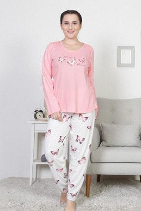 VİENETTA Kadın  P.Suprem O Yaka Uzun Kol Etegı Oval Dar Paca Pijama Takımı