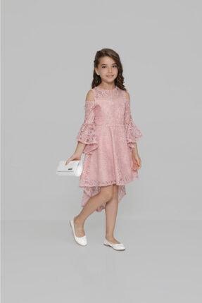 incity Kız Çocuk Pembe Dantel Elbise