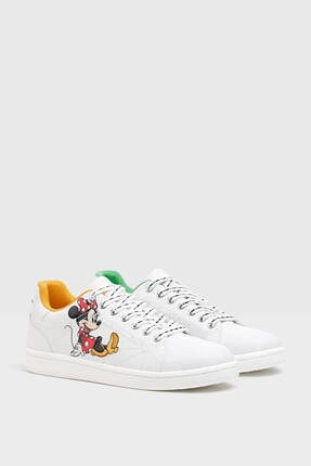 Bershka Kadın Mickey Ve Minnie Mouse Baskılı Spor Ayakkabı