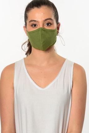 Etnik Esintiler Fıstık Yeşili Maske 3004