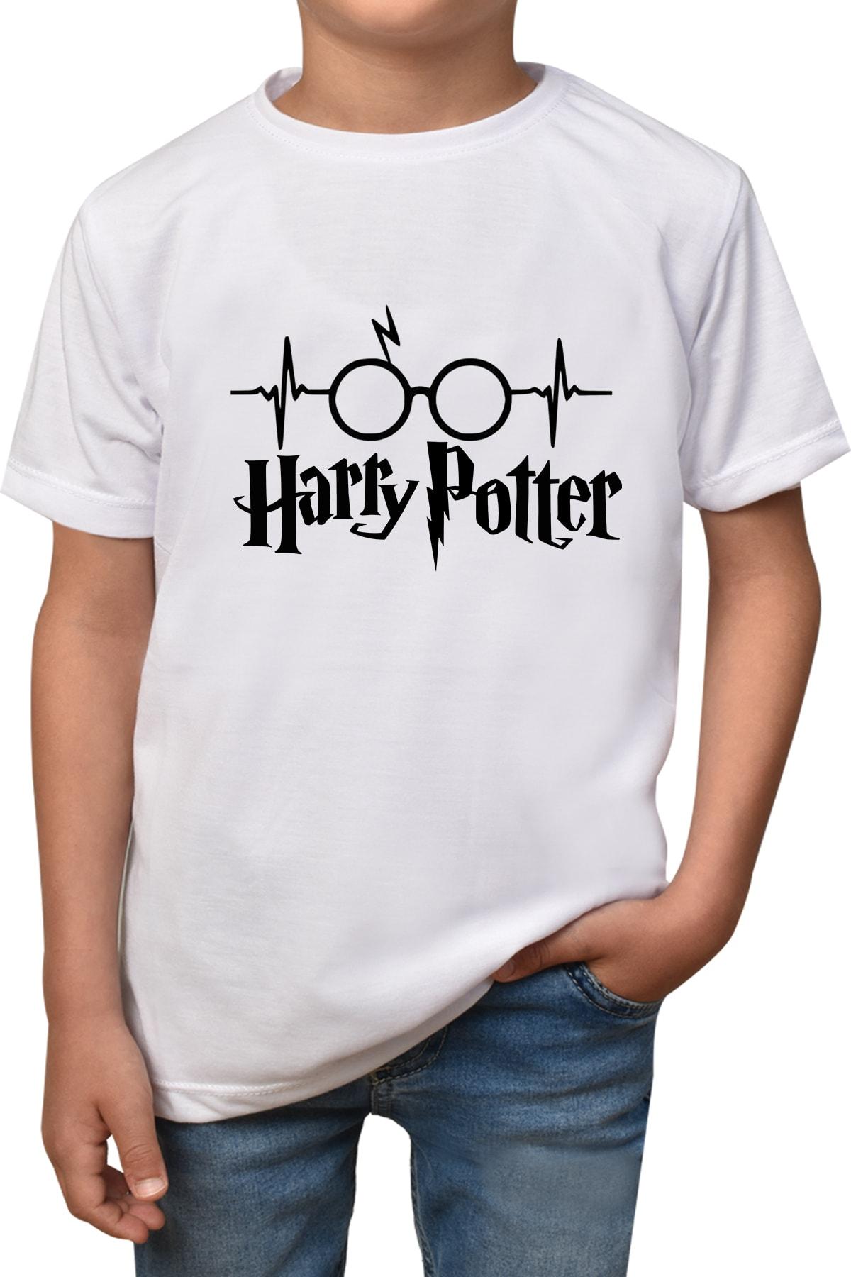 Phi Ajans Erkek ve Kız Çocuk Beyaz  Harry Potter T-shirt T-52 1