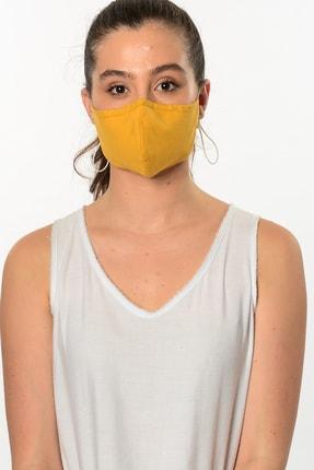 Etnik Esintiler Sarı Yıkanabilir Maske