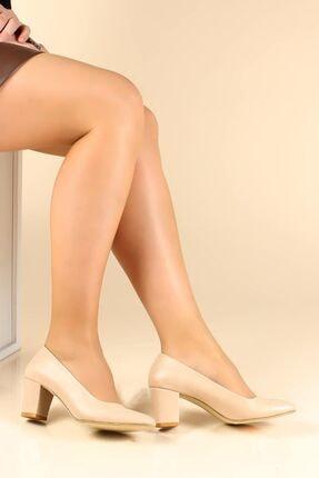 FAST STEP Bej Kadın Kalın Topuklu Ayakkabı 792za400