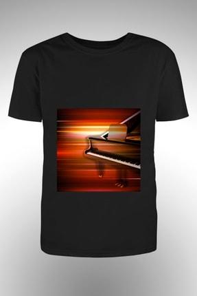 By Okat Piyano Baskılı T-shirt