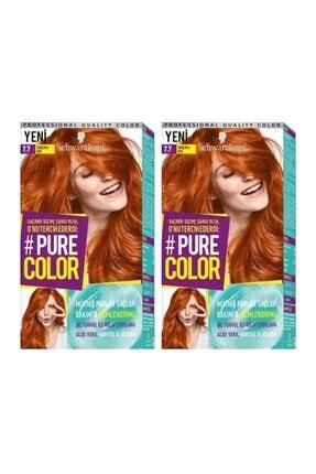 SCHWARZKOPF HAIR MASCARA Pure Color 7-7 Tarçınlı Kek X2