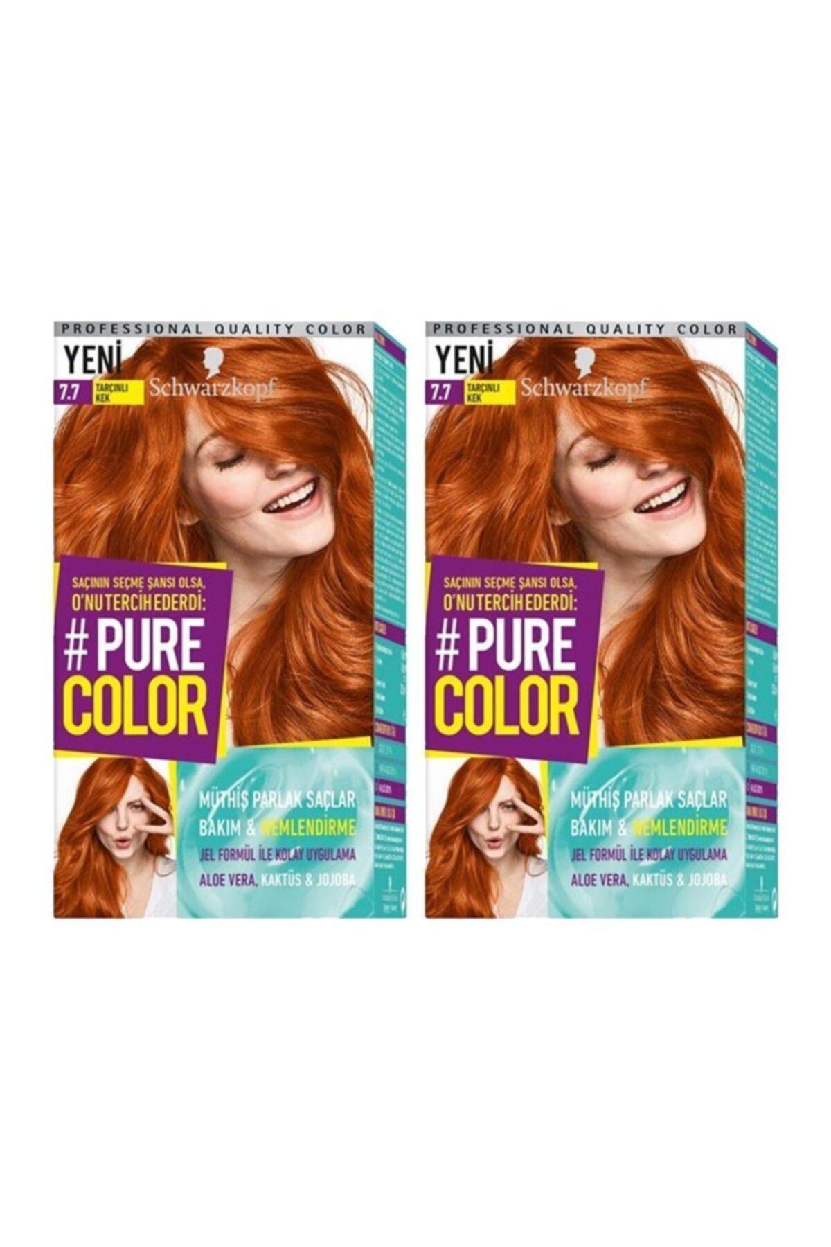 SCHWARZKOPF HAIR MASCARA Pure Color 7-7 Tarçınlı Kek X2 1