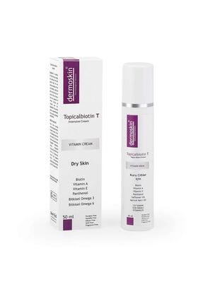 Dermoskin Yüz Bakımı Aşırı Kuruluk Kırışıklık Topicalbiotin T Kuru Ciltler için Bakım Kremi 50 ml