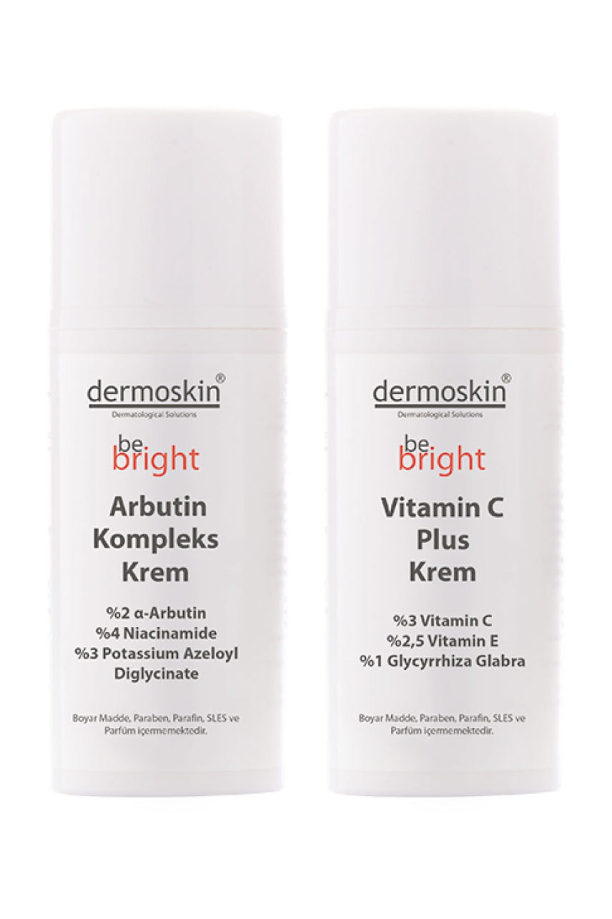 Dermoskin Be Bright Arbutin Kompleks Krem + Be Bright Vitamin C Plus Krem -2'li Avantaj Paket 1