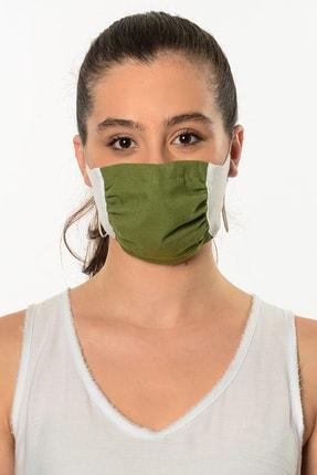 Etnik Esintiler Yeşil Beyaz Maske