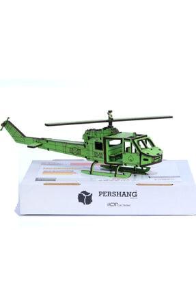 Pershang Puzzle 3d  74 Parça Yapboz Ahşap Helikopter