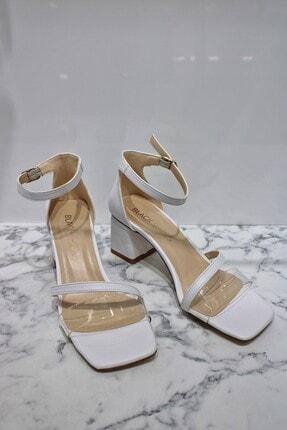 LUXXO Kolej Topuklu Ayakkabı Beyaz