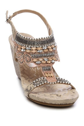 KEMAL TANCA Kemal Tanca Kadın Vegan Sandalet Sandalet 461 85130 BN SNDLT