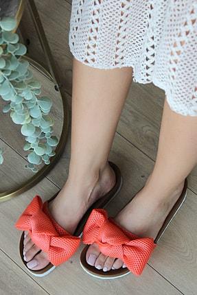 Pembe Potin Kadın Turuncu Sandalet