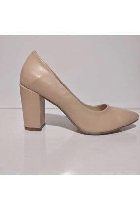 Birol Ayakkabı Ten Cilt Topuklu Ayakkabı