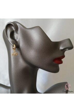 Needle Maylins Accessories Küçük Sallantı Gold Vıp Küpe