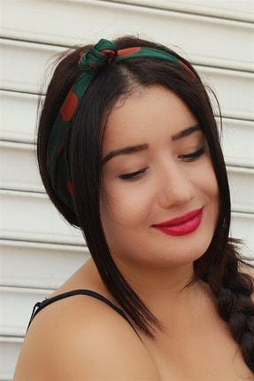 TAKIŞTIR Yeşil Renk Telli Ve Lastikli Saç Bandı