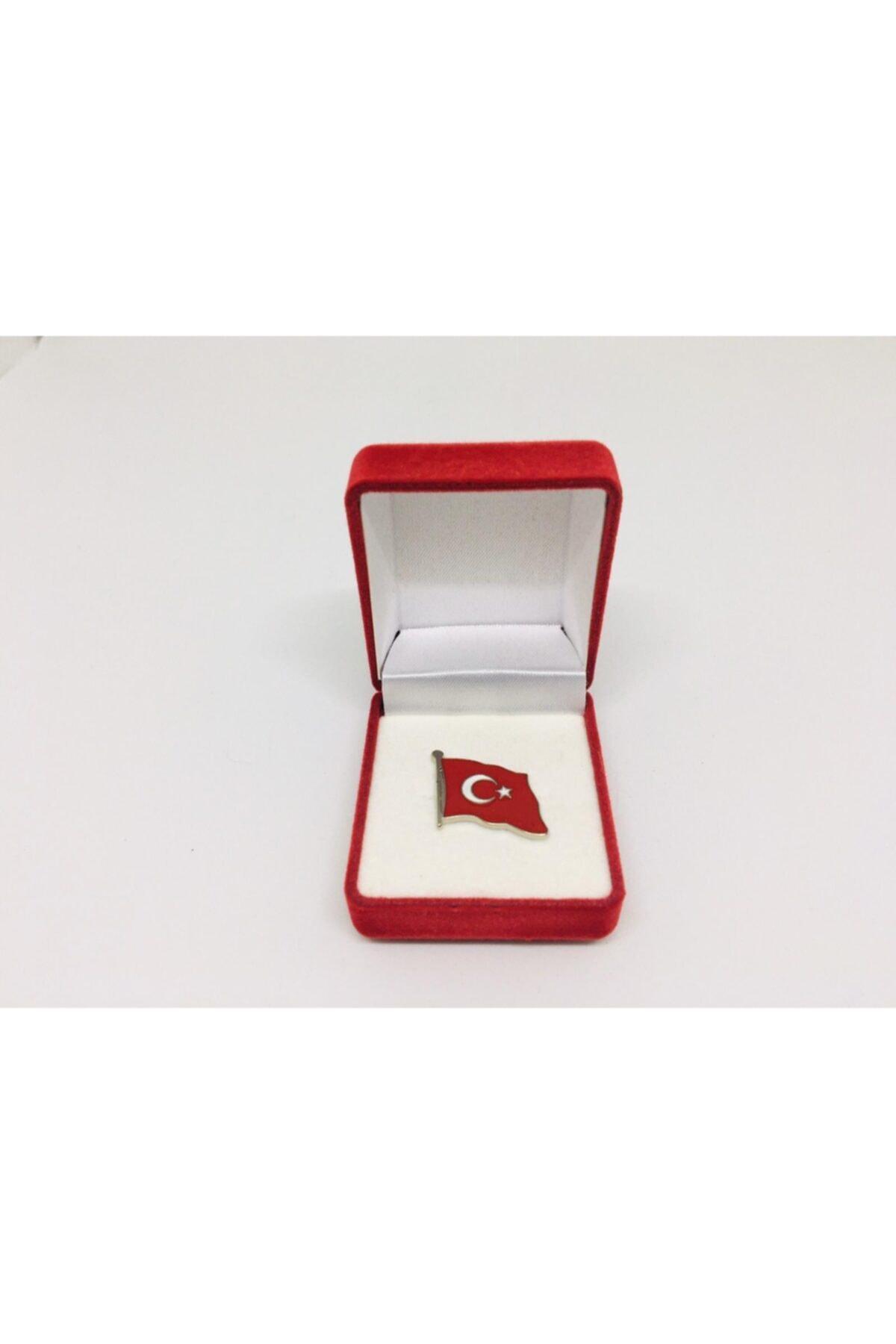 Merit Collection Türk Bayrağı Yaka Rozeti Özel Kadife Kutusunda 1