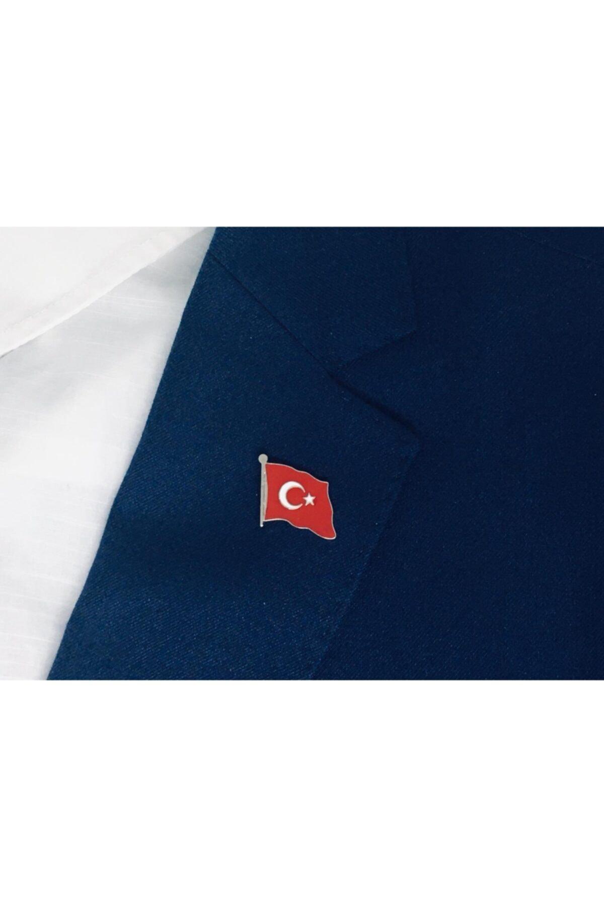 Merit Collection Türk Bayrağı Yaka Rozeti Özel Kadife Kutusunda 2