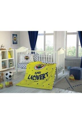 Taç Lisanslı Bebek Nevresim Takımı Fenerbahçe Star Baby