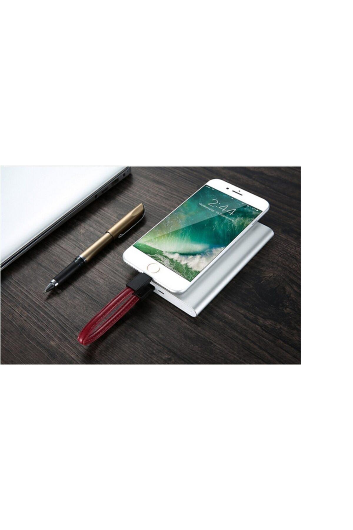 GadgetTR (anahtarlık Şeklinde Şarj Kablosu) Iphone Deri Şarj Kablosu + Anahtarlık, Şık Tasarım 2