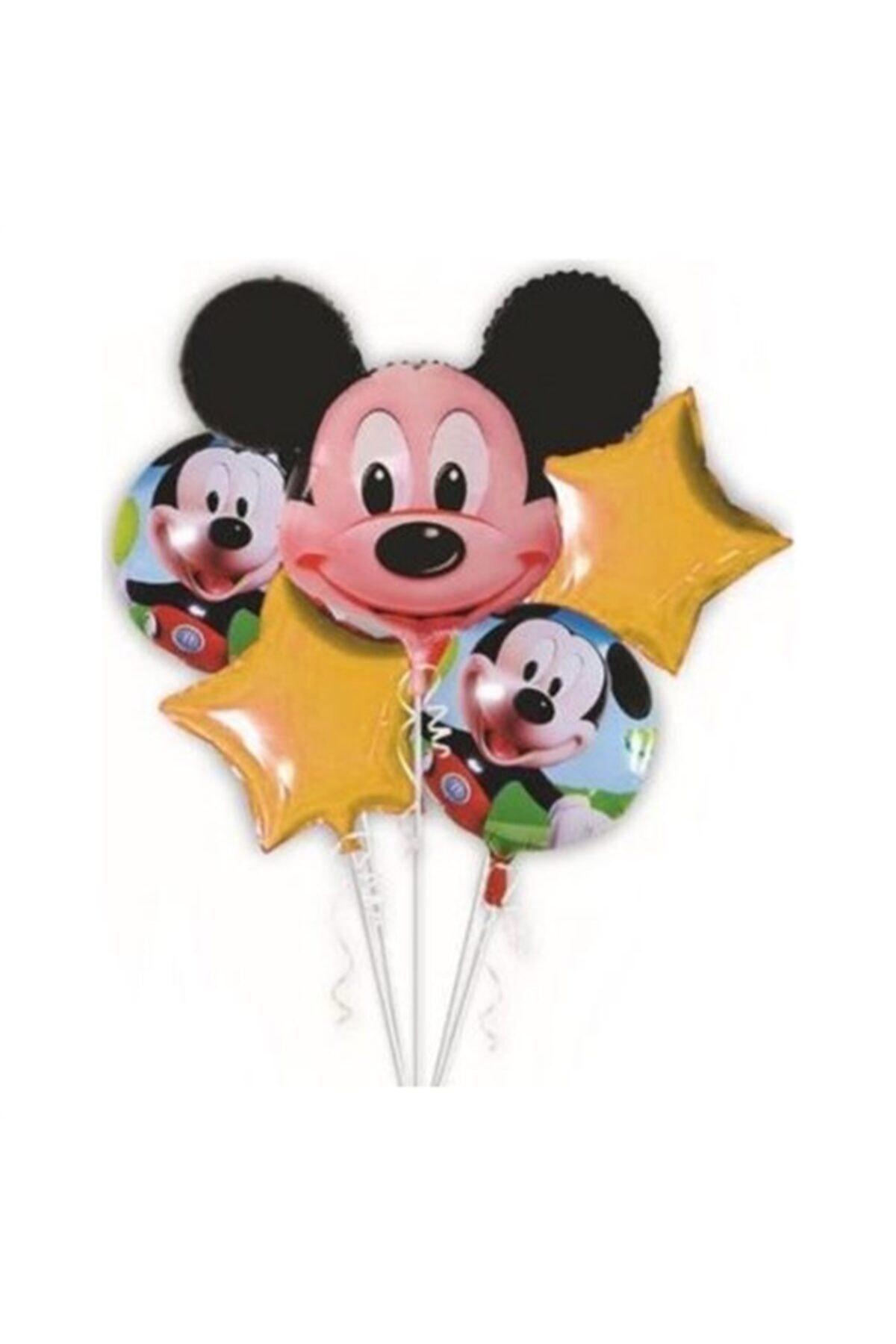 Mickey Mouse Uçan Folyo 5 Li Balon Seti 1