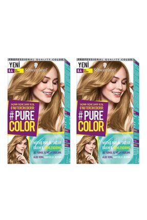 SCHWARZKOPF HAIR MASCARA Pure Color 8-4 Bal Badem X2