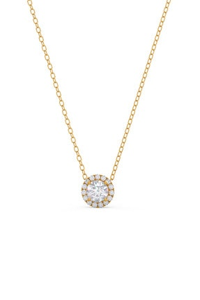 Crystal Diamond Zirconia Labaratuvar Pırlantası 0.30 Carat Tektaş Kolye