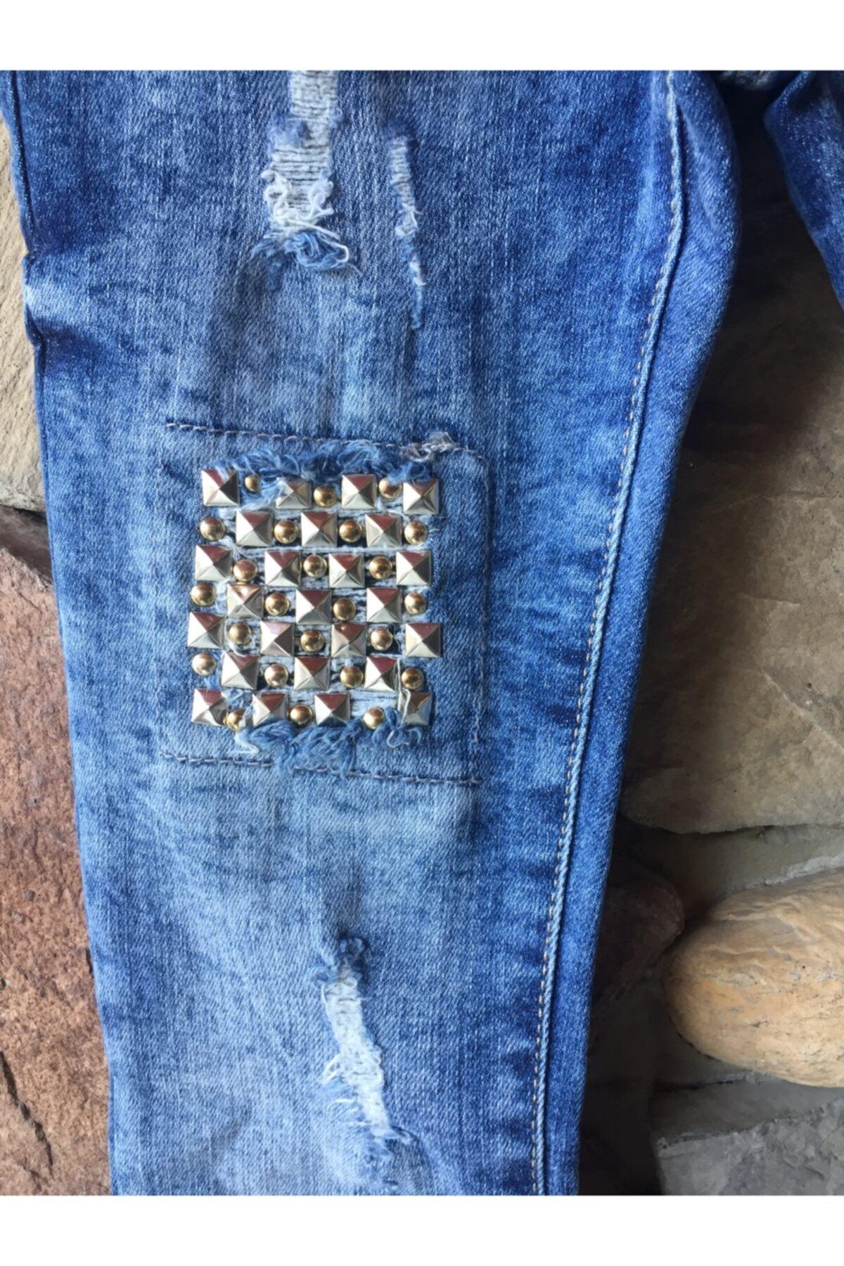 Elif Bebe Kız Çocuk Mavi Likralı Pantolon 2