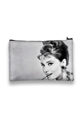 Carali Kadın Makyaj Çantası Dijital Baskılı Audrey Hepburn