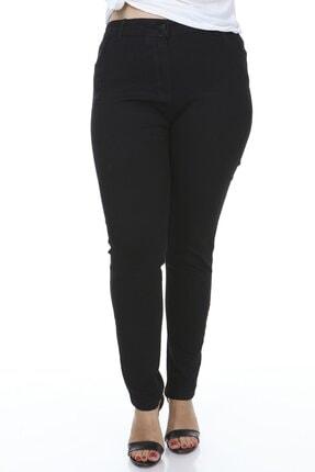Hanezza Kadın Siyah Cep Taş Detaylı Pantolon