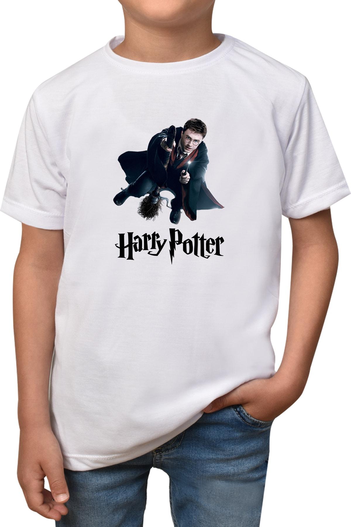 Phi Ajans Çocuk Beyaz Harry Potter T-shirt T-9 1