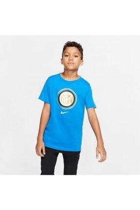 Nike Nıke Inter Milan Erkek Çocuk Mavi Tişört